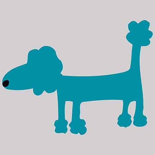 Stickers adhésif Funny Dogs bleu décoration pour carrelage