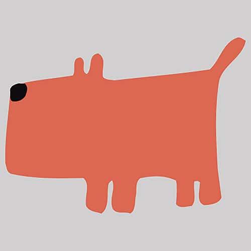 Stickers autocollant décoration d'intérieur pour carrelage Funny Dogs orange