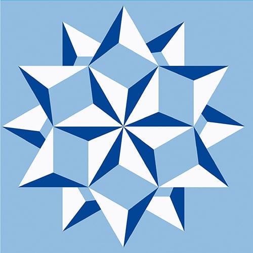 Stickers adhésif Neige bleu pour décoration pour carrelage