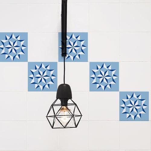Autocollant Neige bleu pour décoration de carrelage pour cuisine