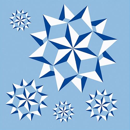 Stickers autocollant bleu décoration d'intérieur pour carrelage Neige
