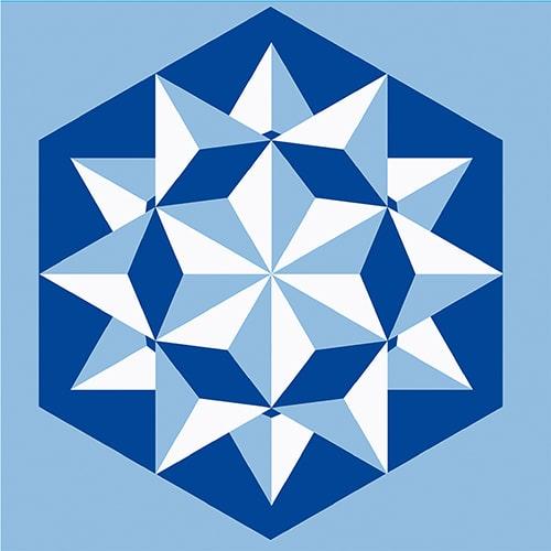 Stickers autocollant Neige bleu décoration pour carrelage