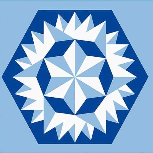 Stickers autocollant bleu déco d'intérieur Neige pour carrelage