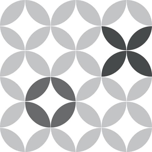 Sticker autocollant céramique noir et blanc déco pour carrelage