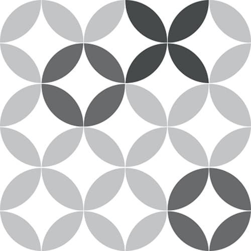 Stickers adhésif céramique déco noir & blanc pour carrelage