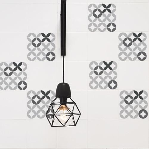 Adhésif décoration céramique noir & blanc pour carrelage de cuisine