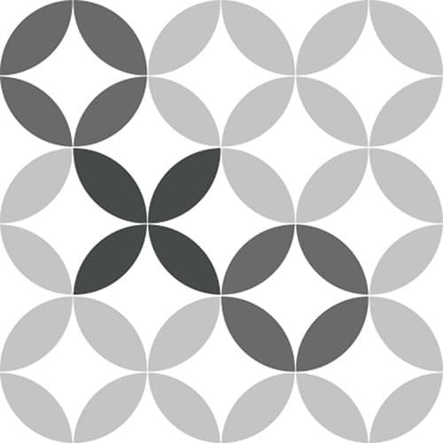 Sticker adhésif décoration céramique noir et blanc pour carrelage