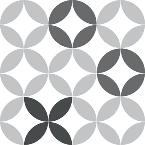 Stickers autocollant céramique noir et blanc pour décoration carrelage