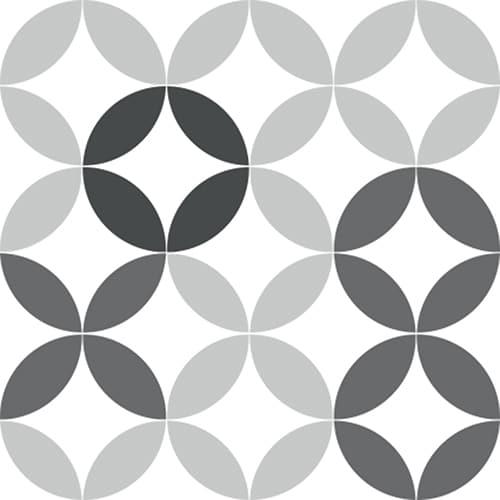 Stickers adhésif céramique noir et blanc pour déco carrelage