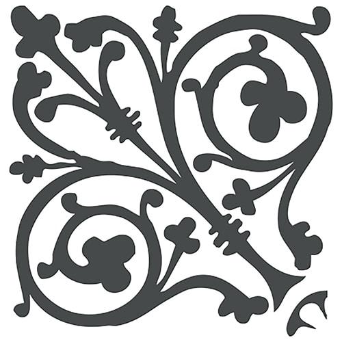 Sticker décoratif adhésif pour carrelage mural style Baroque noir