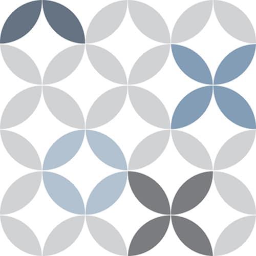 Sticker adhésif céramique bleu pour déco de carrelage
