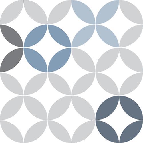 Sticker autocollant déco céramique bleu pour carrelage