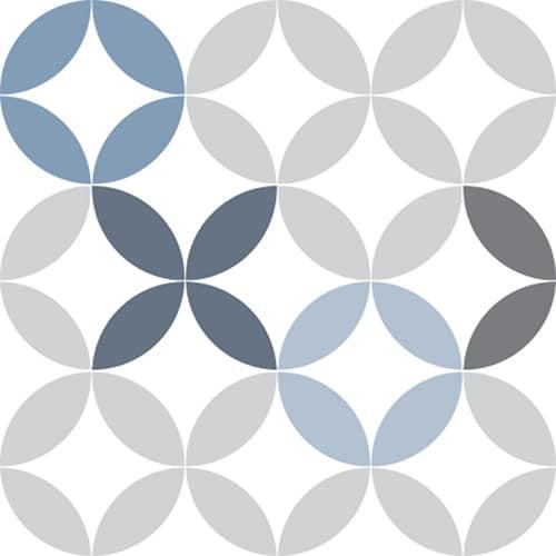Sticker adhésif décoration céramique bleu pour carrelage d'intérieur