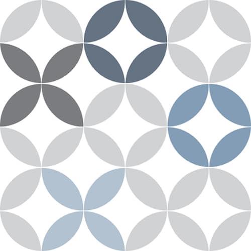 Sticker autocollant déco céramique bleu pour carrelage d'intérieur