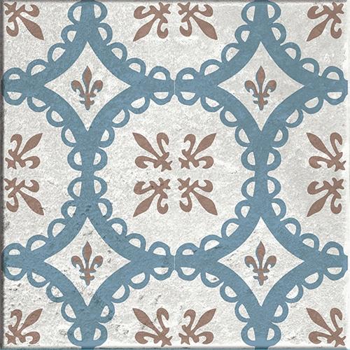 Sticker baixa déco beige, bleu et marron pour carrelage