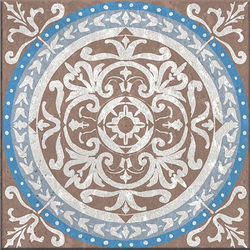 Stickers autocollant Baixa marron et bleu pour carrelage déco d'intérieur