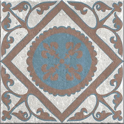 Stickers adhésif marron et bleu pour carrelage décoration d'intérieur Baixa