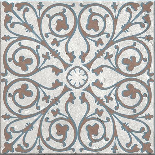 Stickers adhésif Baixa bleu et marron décoration pour carrelage d'intérieur