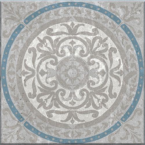 Stickers adhésif décoration gris et bleu pour carrelage Elvas