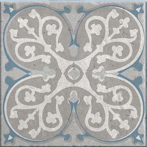 Stickers autocollant Elvas pour décoration de carrelage bleu et gris