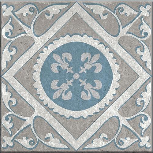 Stickers adhésif Elvas bleu et gris pour carrelage déco d'intérieur
