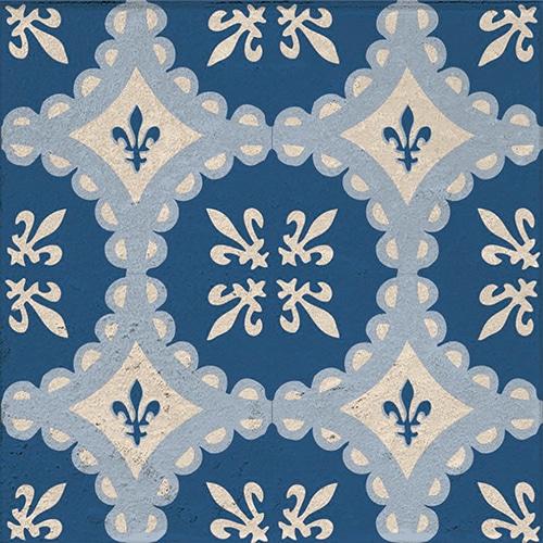 Stickers autocollant Acores décoration pour carrelage bleu et blanc