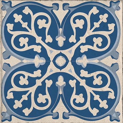Stickers adhésif Acores bleu et blanc décoration de carrelage d'intérieur