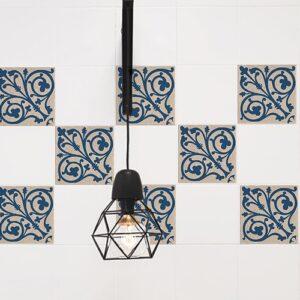 Autocollant Acores bleu et blanc décoration pour carrelage d'intérieur de cuisine