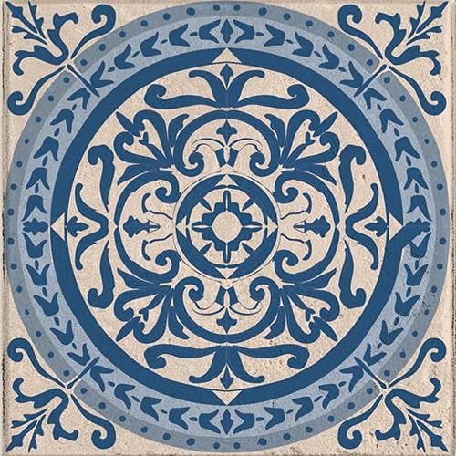 Stickers autocollant déco pour carrelage d'intérieur Acores bleu et blanc