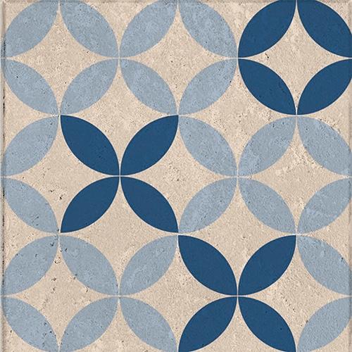 Stickers adhésif bleu et blanc décoration pour carrelage Acores