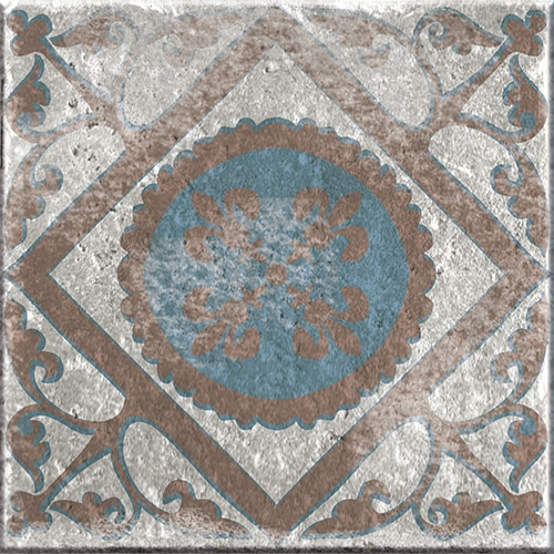 Stickers adhésif Marvao décoration pour carrelage bleu et marron