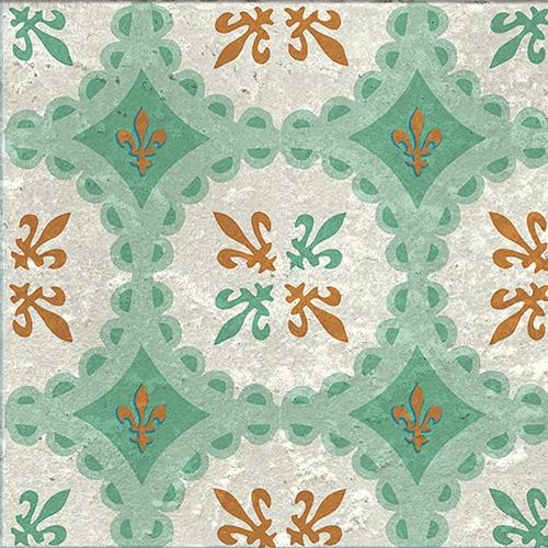 Stickers adhésif marron et vert Evora décoration pour carrelage
