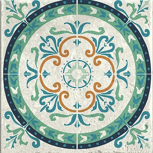 Stickers autocollant Evora gris, vert et marron décoration pour carrelage d'intérieur