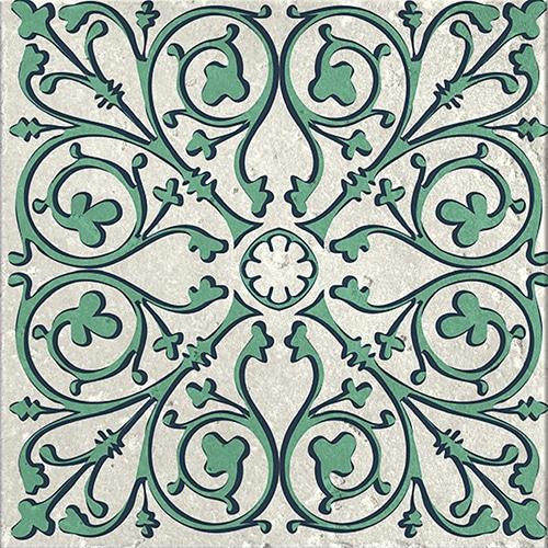 Stickers autocollant gris et vert décoration pour carrelage Evora