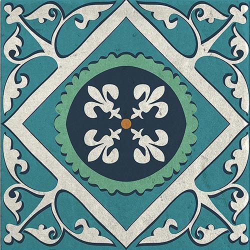 Stickers adhésif Evora décoration d'intérieur de carrelage bleu et vert