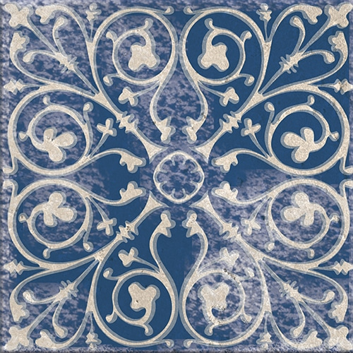 Stickers adhésif bleu Antico Tomar décoration de carrelage