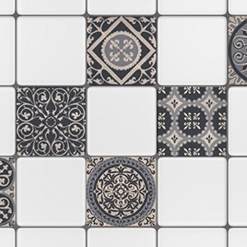 Adhésif Brescia gris décoration pour carreaux de cuisine