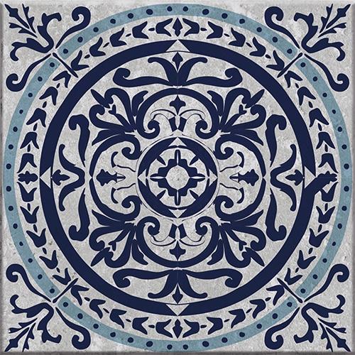 Stickers adhésif décoration bleu pour carrelage Monza