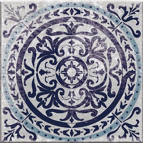Stickers autocollant Antico Monza bleu décoration pour carrelage