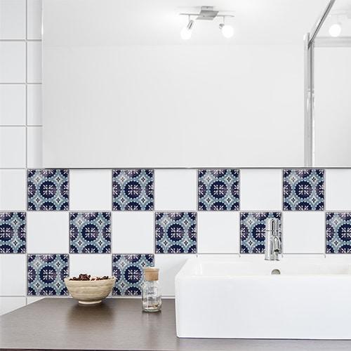Adhésif bleu Antico Monza pour déco de carrelage de salle de bain moderne