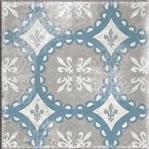 Stickers bleu et beige adhésif décoration Antico Elvas pour carrelage