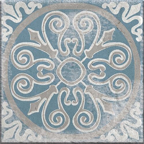 Sticker autocollant Antico Elvas décoration beige et bleu pour carrelage