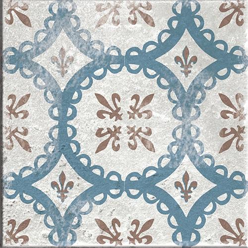 Stickers autocollant beige, marron et bleu Antico Baixa décoration pour carrelage