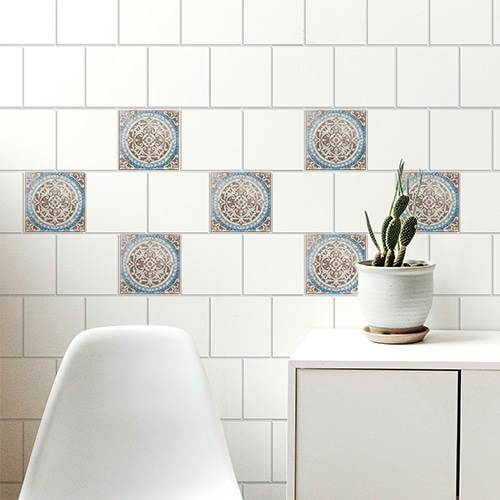 Sticker adhésif Antico Baixa pour carrelage dans un salon