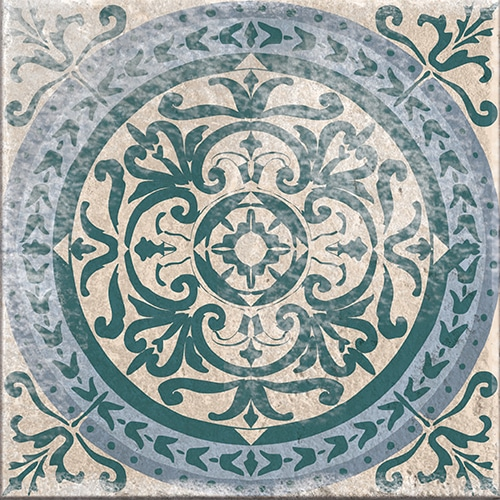 Stickers autocollant Antico Forli vert et bleu décoration pour carrelage