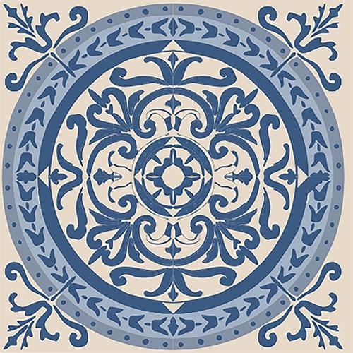 sticker adhésif collection ciment bleu et beige pour carrelage mural