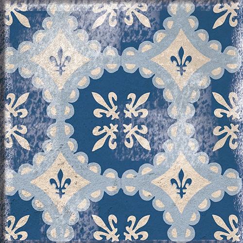 Sticker adhésif collection Antico Acore gris et bleu décoration carrelage mural