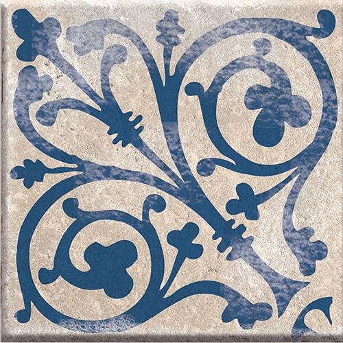 sticker gris et bleu déco autocollant gamme Antico Acores pour coller sur carrelage murral