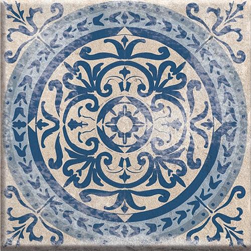Sticker autocollant déco adhésif gamme Antico Acores gris et bleu pour coller sur carrelage mural