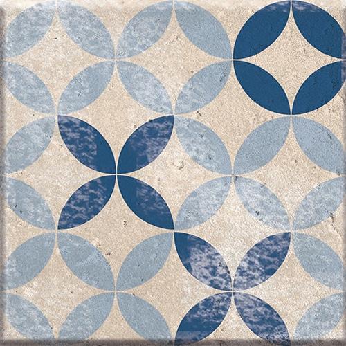 Sticker autocollant gris et bleu décoratif collection Antico Acores pour coller sur carrelage mural